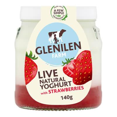 Strawberry & Natural Live Yoghurt | 140G Jar