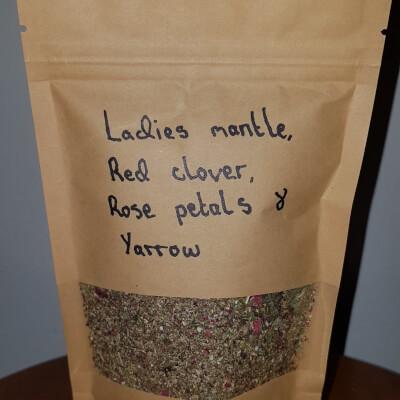 Ladies Mantle, Red Clover, Rose Petals & Yarrow Tea