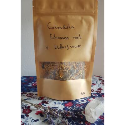 Calendula, Echinacea Root & Elderflower Tea