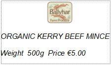Organic Kerry Beef Mince