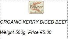 Organic Kerry Diced Beef