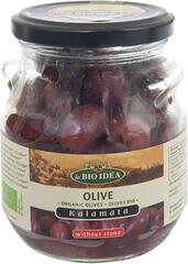 Organic Black Pitted Olives  180Gr