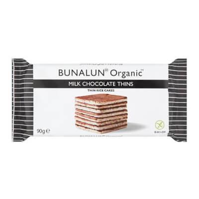 Bunalun Organic Milk Chocolate Thins (Rice Cakes)