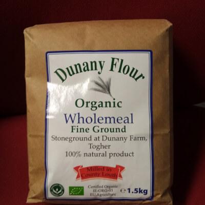 Dunany Organic Wholemeal Flour 1.5Kg Plúir Donn Orgánach.