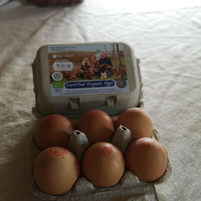 Organic Chicken Eggs 1 Dozen (12 Eggs) Xl