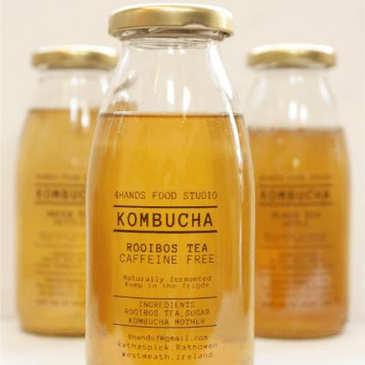 Rooibos + Orange Kombucha (Caffeine Free)