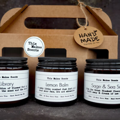 3 Candle Gift Set - Home Office Collection