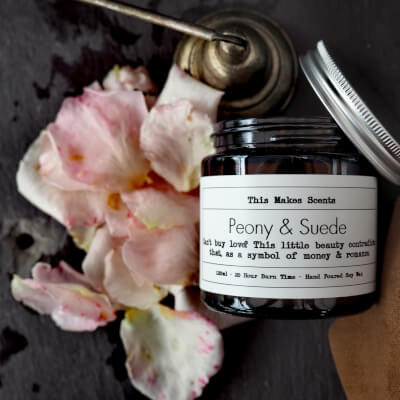 Peony & Suede 120Ml Candle