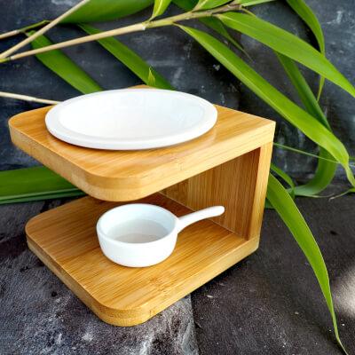 Bamboo Wax Melt Burner