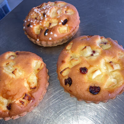 Gluten Free Apple And Cranberry Tartlet