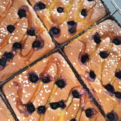 Gluten Free Lemon & Blueberry Traybake
