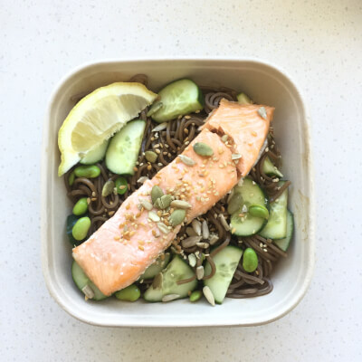 Sesame Soba Noodles With Salmon Fillet (Gf)