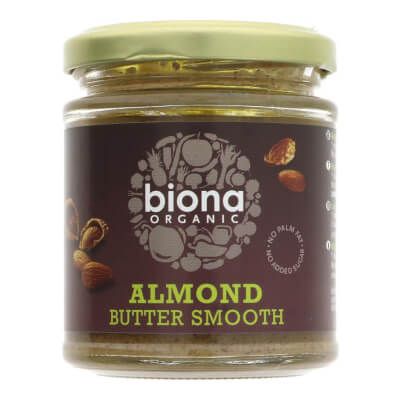Organic Almond Butter Smooth By Biona  - 170G