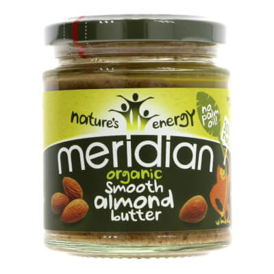 Organic Almond Butter Smooth By Meridian - 170G