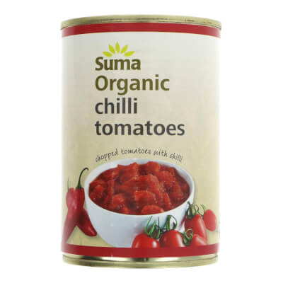 Organic Tomatoes, Tinned Chopped With Chilli