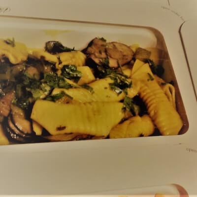 Garganelli Pasta Mushroom,Zaffron, Courgettes