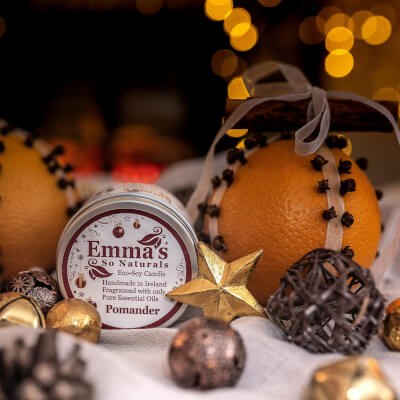 Emma's So Natural Soy Wax Candle Pomander *Seasonal Scented Tin 20Hr Burn Time