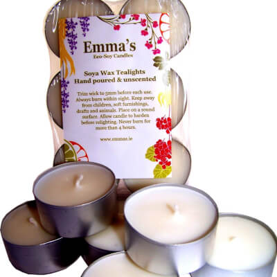 Emma's So Naturals Soy Wax Tea Lights 6 Pack