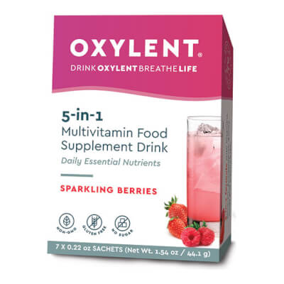 Oxylent Sparkling Berries Flavour 7 Sachets/Servings Pack