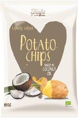 Organic Potato Crisps Fried In Coconut Oil