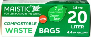 Large 20L Heavy Duty Commpotable Waste Bag