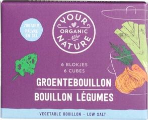 Organic Vegetable Bouillon Stock Cubes - Low Salt