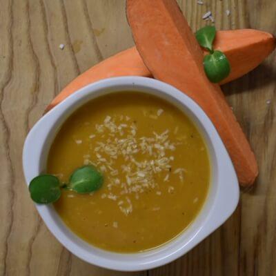 Sweet Potato & Coconut Soup (Frozen)