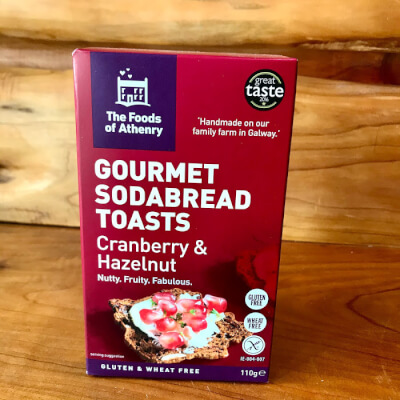 Gourmet Sodabread Toasts With Cranberry & Hazelnuts