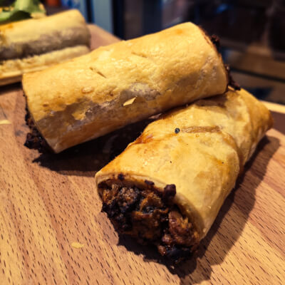 Mushroom And Goats Cheese Vegetable Rolls