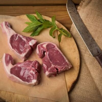 Lamb Double Loin Chops (4 In Pack)