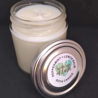 Peppermint And Lemon Balm Soya Candle
