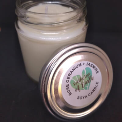 Rose Geranium And Jasmine Soya Wax Candle