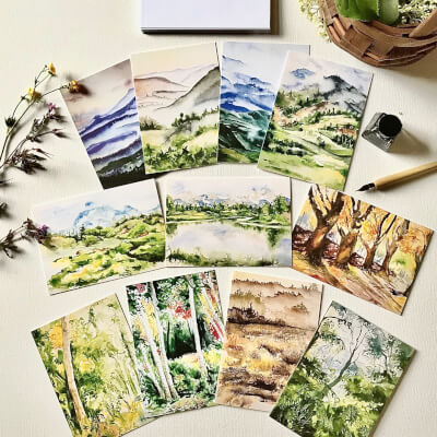 Limited Edition Greeting Cards Set Of 11