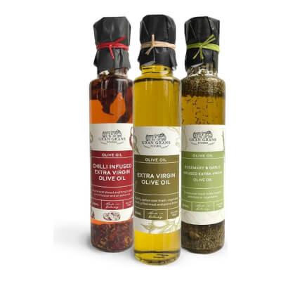 Trio Of Extra Virgin Olive Oils.
