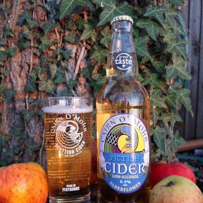 Low Alcohol Pictish Elderflower Cider 50Cl