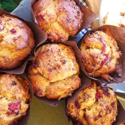 Banana And Raspberry Muffin