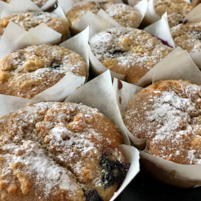 Vegan Blueberry & Lemon Muffins