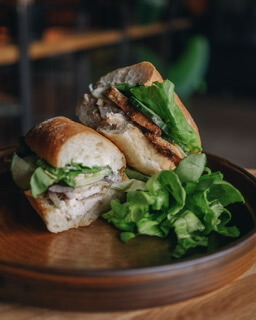 Lemon Chicken With Garlic Mayo & Cucumber Ciabatta