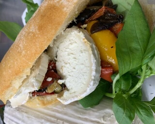 Goats Cheese, Pesto & Roasted Veg Ciabatta