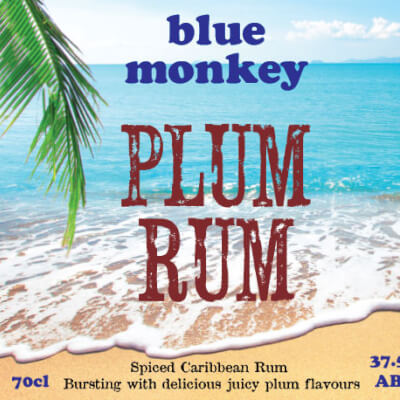 Blue Monkey Plum Rum 37.5%