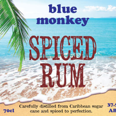 Blue Monkey Spiced Rum 37.5%