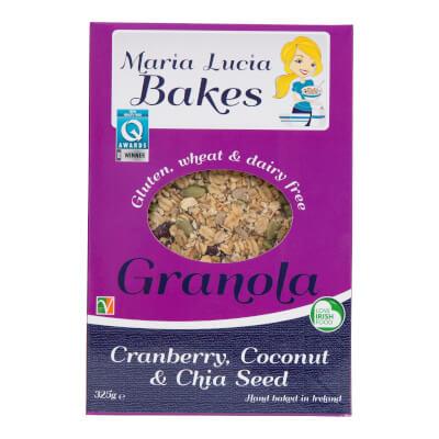 Cranberry, Coconut & Chia Seed Granola Gluten Free Granola