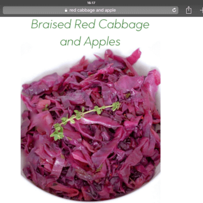 Braised And Spiced Red Cabbage And Apple