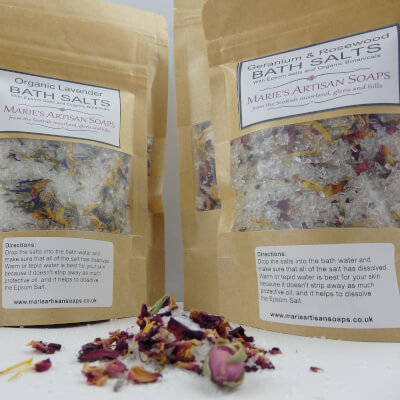 Geranium & Rosewood Bath Salts