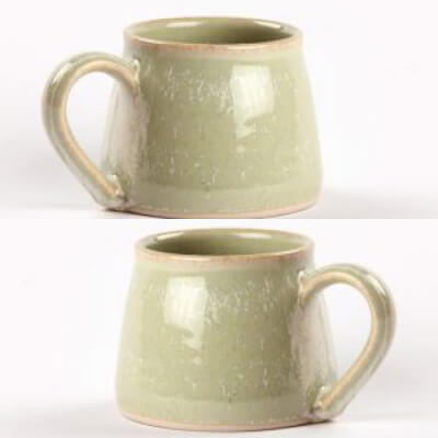 Pair Of Coffee Cups Woodland Green