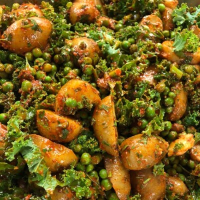 Baby Potato, Pea, Kale And Smoked Paprika Salad