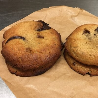 Vegan Rosemary, Orange And Chocolate Chip Cookies.