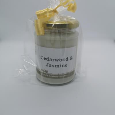 Cedarwood & Jasmine 100% Soy Wax Candle