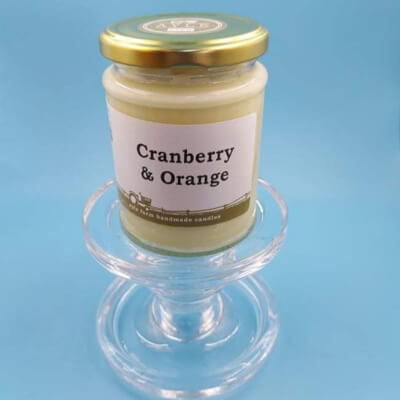 Cranberry & Orange 100% Soy Wax Candle