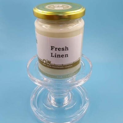 Fresh Linen 100% Soy Wax Candle